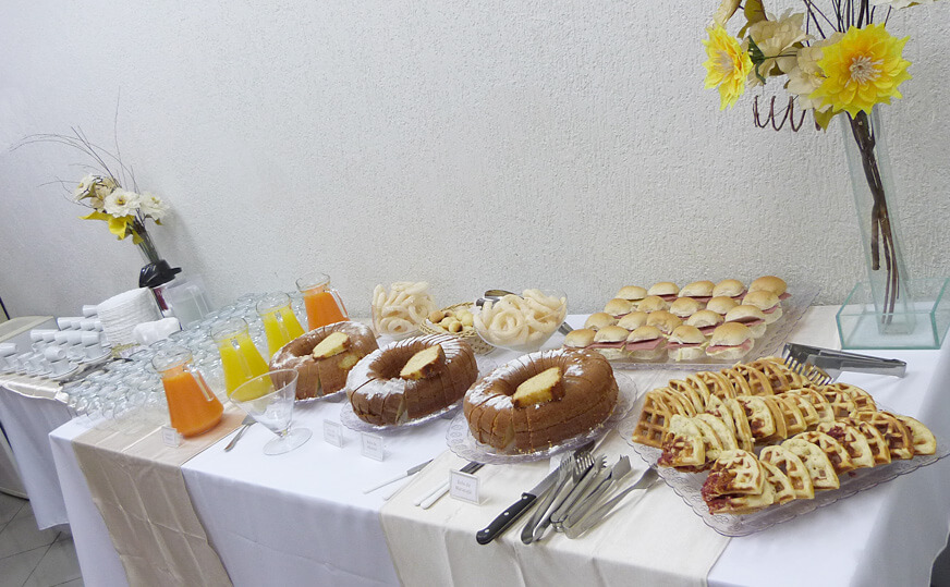Meas de coffee break para empresa