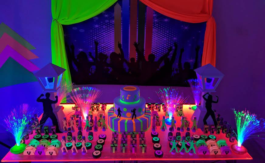 Decoração Festa Balada Neon
