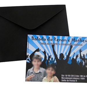 Convite Balada teen Menino com foto