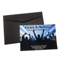 Convite teen Balada Menino azul