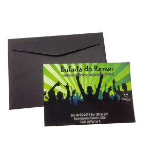 Convite teen Balada Menino verde