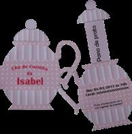 Convite Chá de Cozinha Bule de Chá