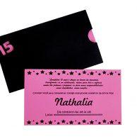 Convite neon envelope 15 anos