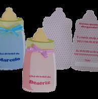 Convite chá de bebê mamadeira