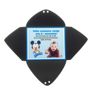 Mini Convite infantil com laço menino