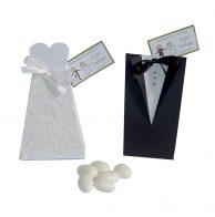 lembrancinha para casamento caixinha vestido de noiva e terno de noivo