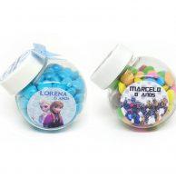Mini baleiro pet personalizado para festa infantil
