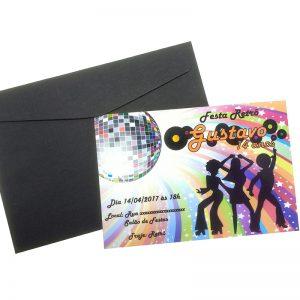Convite Badala Retrô Teen Disco