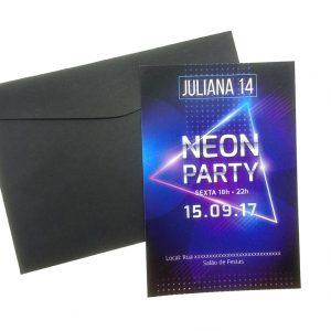 Convite Badala Teen Neon Party menina