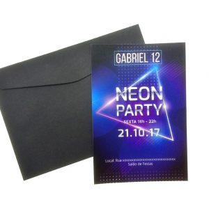 Convite Badala Teen Neon Party menino